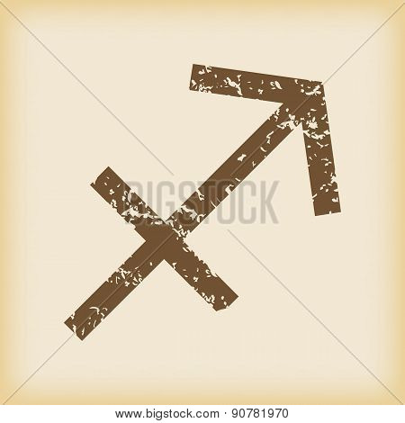 Grungy sagittarius icon