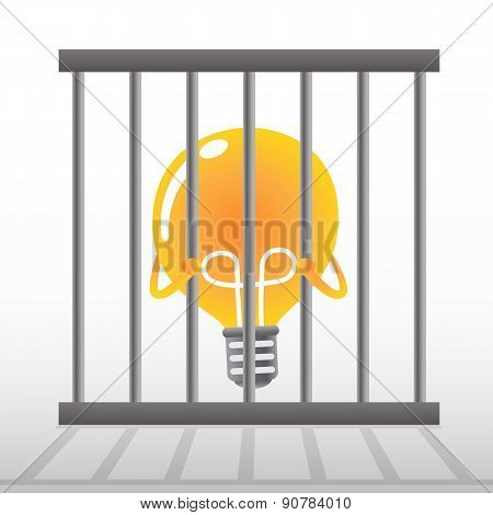 Yellow Bulb In Cage