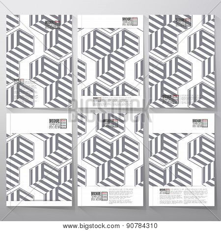 Modern stylish geometric background with cubes. Brochure, flyer or booklet for business, template ve