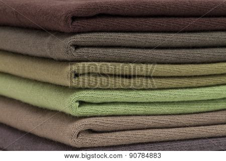 Brown And Green Shirts