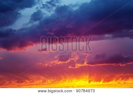 Fantastic Dramatic Sunset Sky