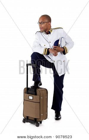 Attractive African American Cruise Ship Steward