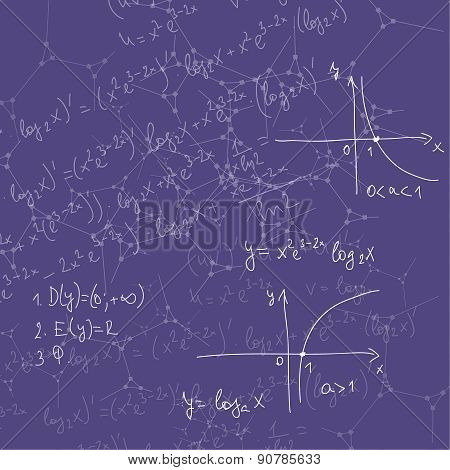 Abstract Background with mathematical formulas