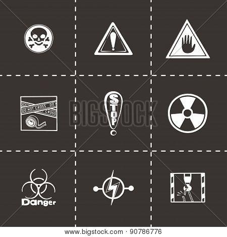 Vector Danger icon set