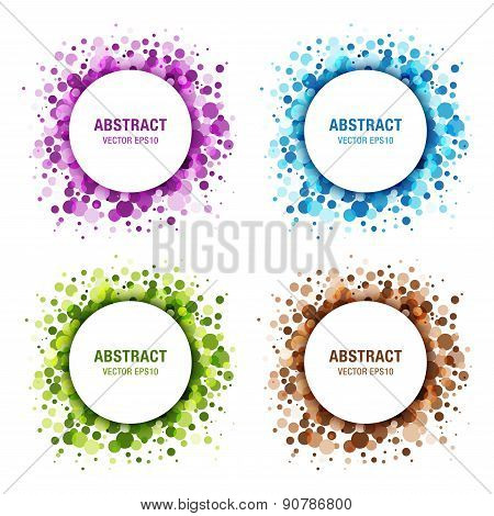 Set of Colorful Abstract Circles. Frame Design Elements