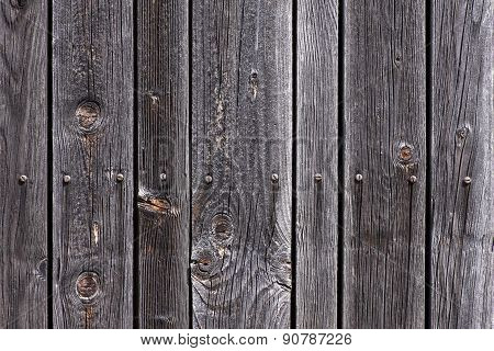 Weathered Wood With Screws