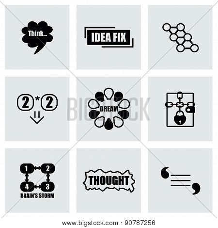 Vector Thought icon set