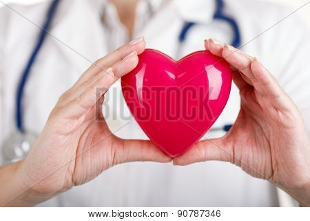 Heart In Doctor's Hands