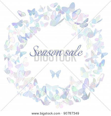 Season sale marketing poster, banner, promotion flyer