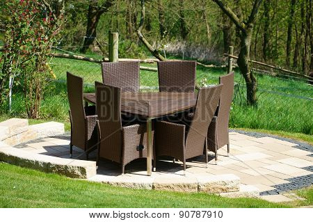 Garden Furniture Of Rattan