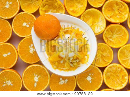 Oranges And Manual Juicer