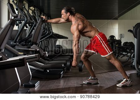 Mature Man Doing Exercise For Back