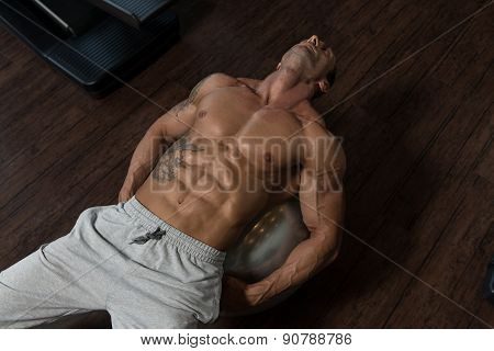 Exercising Abdominals On Exercise Ball