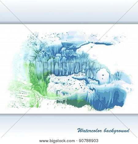 Vector watercolor modern abstract background