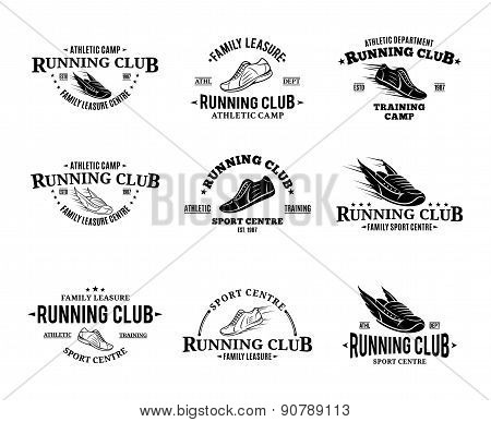 Running Club Labels Templates and Badge