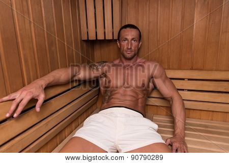Relaxing In The Hot Sauna