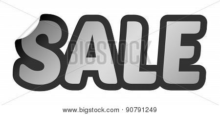 Vector Sale Bent Sticker