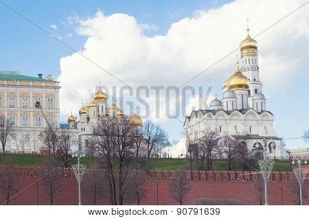 Moscow Kremlin with cathedrals