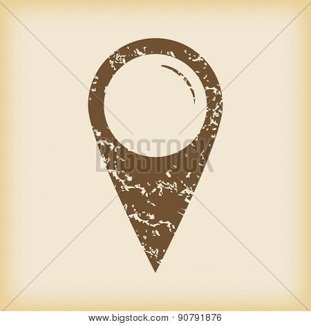Grungy map pointer icon