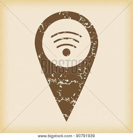 Grungy Wi-Fi pointer icon