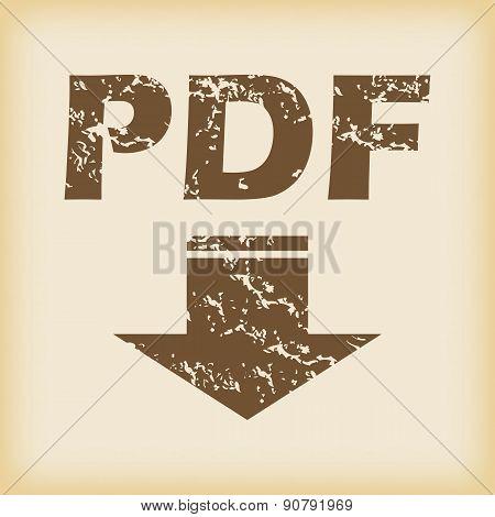 Grungy pdf download icon