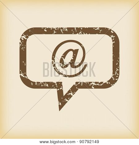 Grungy mail message icon