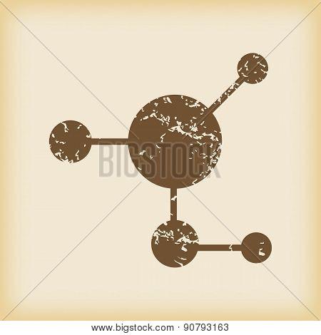 Grungy molecule icon