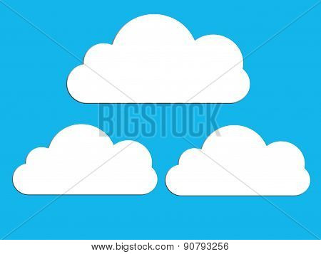 speech bubbles, cloud shape