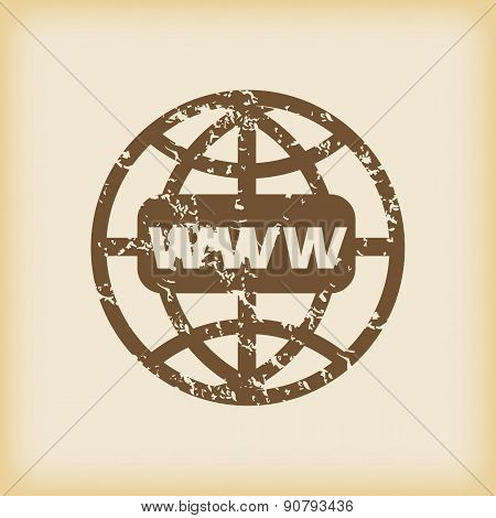 Grungy global network icon