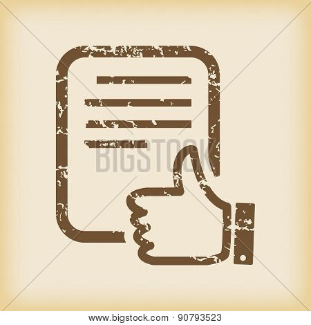 Grungy like document icon