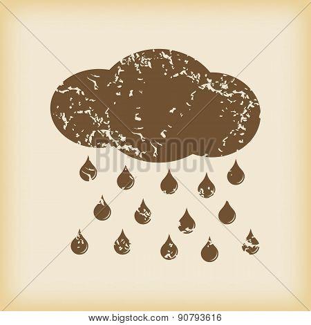 Grungy rain icon