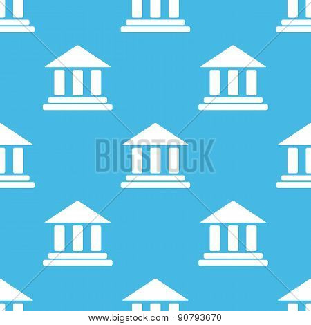 Blue classical building pattern