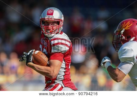 VIENNA, AUSTRIA - MAY 26, 2014: RB Felix Stadler (#33 Austria) runs with the ball.