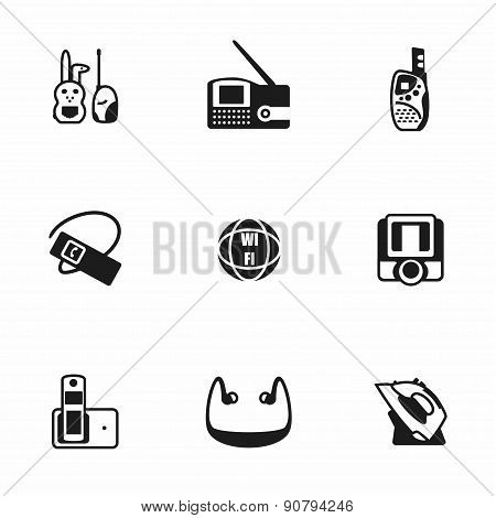 Vector Wireless icon set