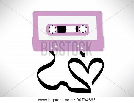 Cassette tape love song concept