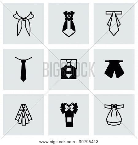 Vector Tie icon set