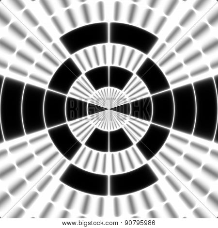 Black Ray Transmission Tower Or Spotter Symbol On The White Background