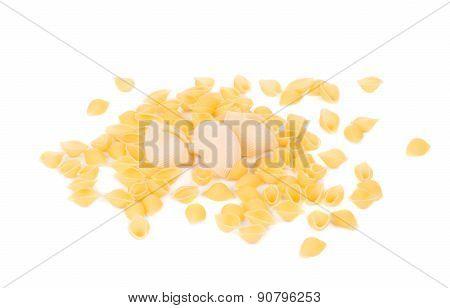 Uncooked italian pasta.