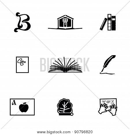 Vector Book icon set