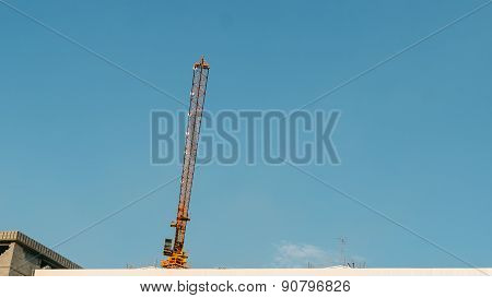 construction crane on the roof