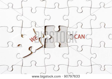 Missing Jigsaw Puzzle Piece Completing Words We Can