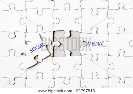 Missing Jigsaw Puzzle Piece Completing Words Social Media