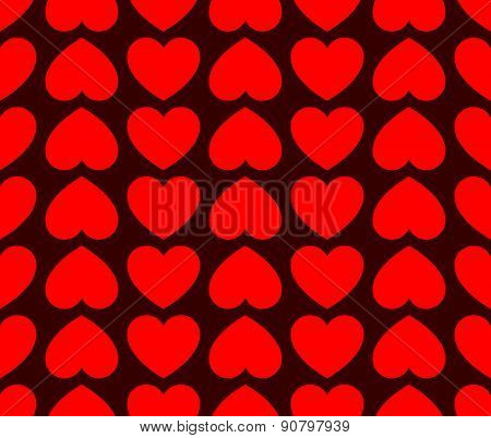 Repeatable Heart Pattern, Heart Background, Vector Graphics.