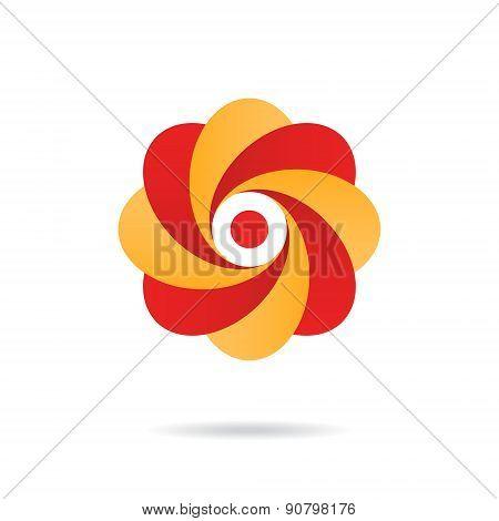 Segmented O Letter - Flower Concept