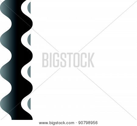 Seamless Vector Pattern / Background With Waving, Wavy Shapes.