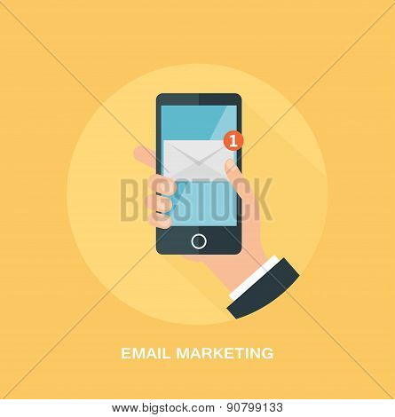 E-mail marketing and promotion concept