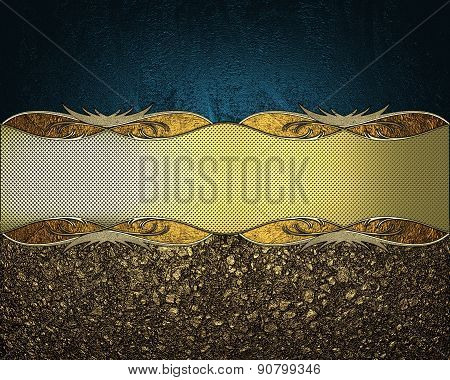 The Texture Of Golden Sand With A Nameplate. Design Template. Design For Site