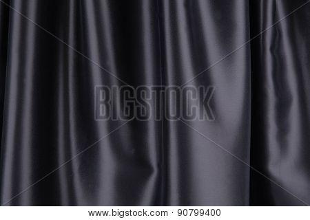 Black silk drapery