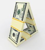 foto of 100 dollars dollar bill american paper money cash stack  - Money concept  - JPG