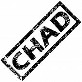 picture of chad  - Vector rubber stamp with name CHAD - JPG